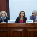 BIU Rector Prof. Miri Faust,  Head of Conflict Mangagement Program Prof. Michal Alberstein, and Head of the Delegation of the European Union to the State of Israel, Ambassador Lars Faaborg-Andersen